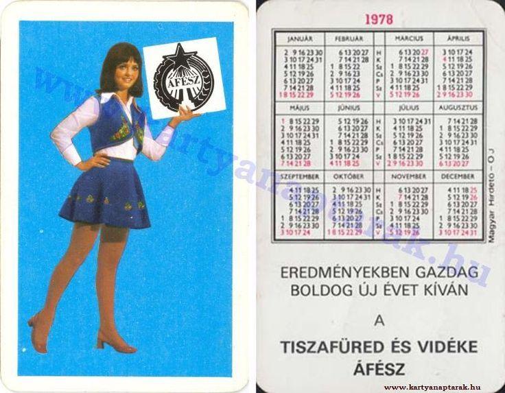 1978 - 1978_0918 - Régi magyar kártyanaptárak