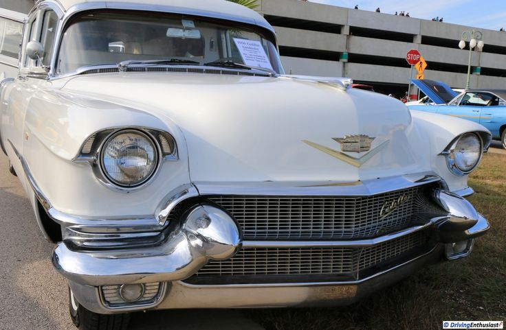 1956 Cadillac Landaulet . As shown at the November 2016 Cars and Coffee event in Austin TX USA.