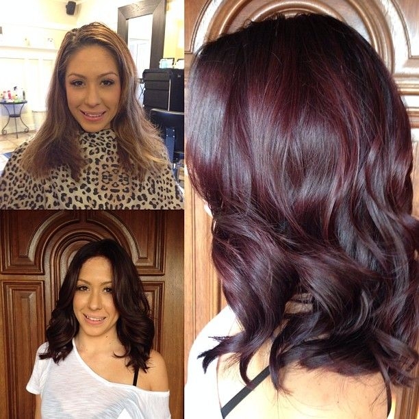rich violet brown for fall. I love the red but it fades so quickly                                                                                                                                                                                 More
