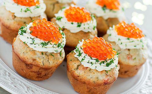 Cupcakes salés au saumon fumé