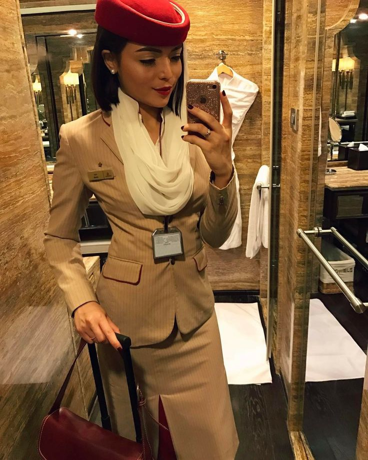 Pretty | Lovely | Emirates  | Stewardess | Malaysian #cute #pretty #selfie #cabincrew #photography #makeup #uniform