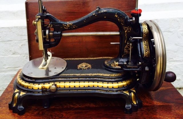 Sewing Machine Bradbury 'Duke Of Wellington' Rare Victorian Antique in Antiques, Other Antiques | eBay