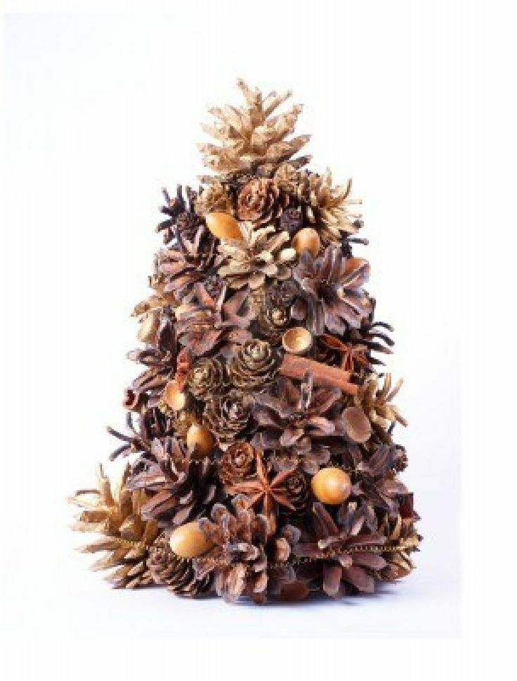 Christmas tree decoration made from natural cones for Acorn decoration
