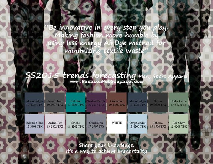 SS2015 trends forecasting for Men, Sport Apparel - Be innovative in every step you play. Making fashion more humble by using less energy Air...