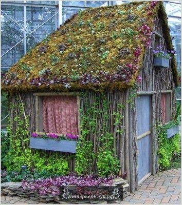 Красивые маленькие садовые домики, маленький садовый домик своими руками, красивые сараи фото