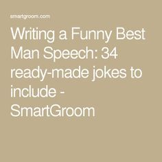 Best man speech jokes and one liners