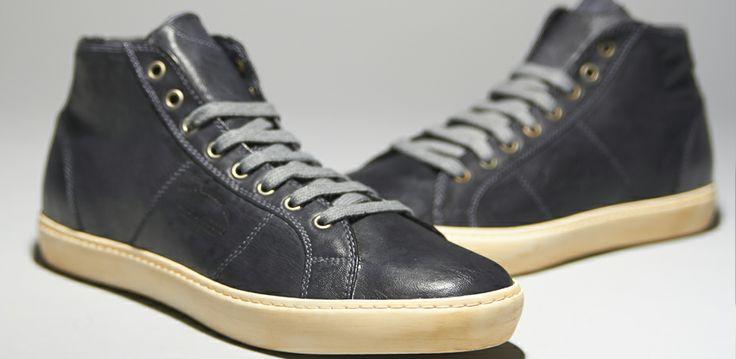 Pantofola D'Oro Del Bello Mid Nappa T.C. Pece Suola Burro - Mens Shoes - Black