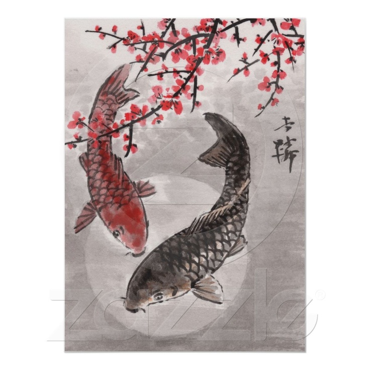 176 best images about koi tattoos and art on pinterest for Koi fish paintings prints