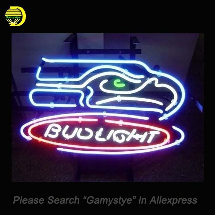 New Arrival Bud Light Seattle Seahawks Neon Sign Free Shipping