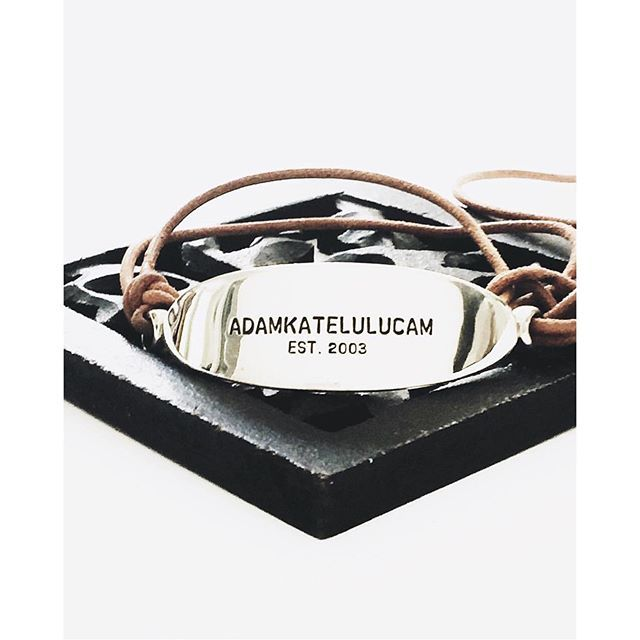 Order today and we will ship today - a personalised Uber ID Cuff www.uberkate.com.au