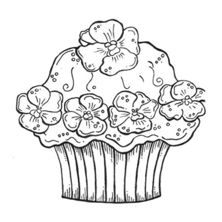 Cupcake Coloring Pages For Adults : 58 best Happy Birthday coloring Pages images on Pinterest ...