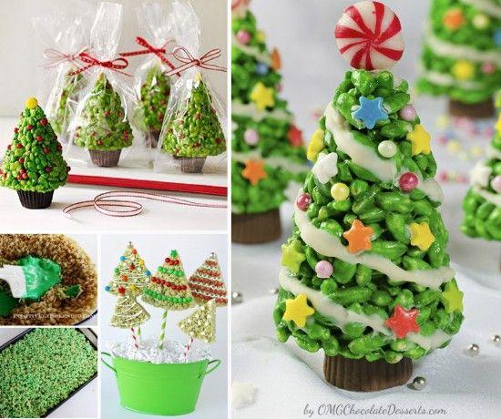 Come fare alberi natalizi con riso soffiato - Spettegolando