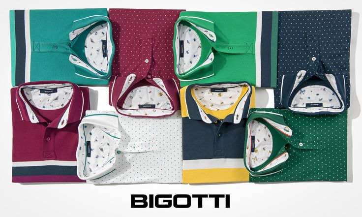 The #polo #shirts - a #staple of #mens #summer #fashion #Striped or with a #printed #micro #dott #pattern - #add it to your #wardrobe! www.bigotti.ro