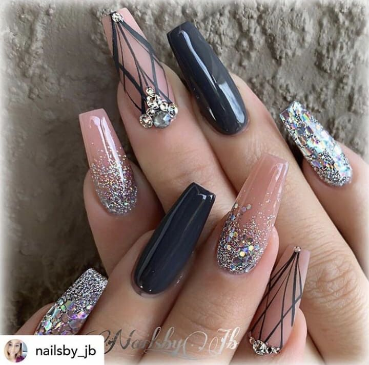 Pin By Ronee D On Claws Champagne Nails Coffin Nails Designs Trendy Nails