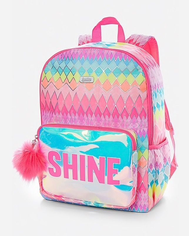 Shine Geometric Backpack Kids Luggage Justice Backpacks Justice Bags