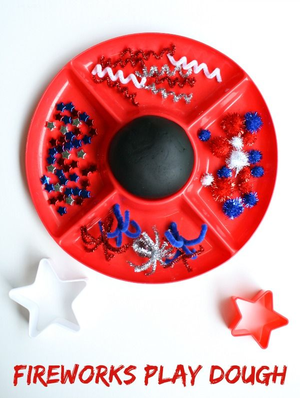Fireworks Play Dough from Fantastic Fun and Learning