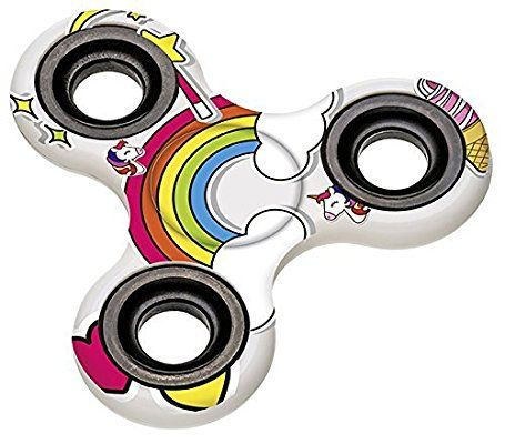 Ha Ha! Jetzt gibt es ihn endlich auch im Einhorn-Design: Einhorn Fidget Spinner, Unicorn Hand Spinner, Finger Spinner. (affiliate link)