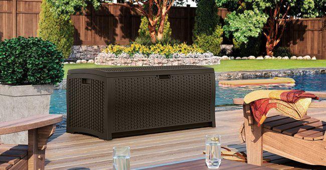 Suncast Deck Storage Box Best Seller Patio Cushions Outdoor Outdoor Patio Outdoor Deck Storage Box