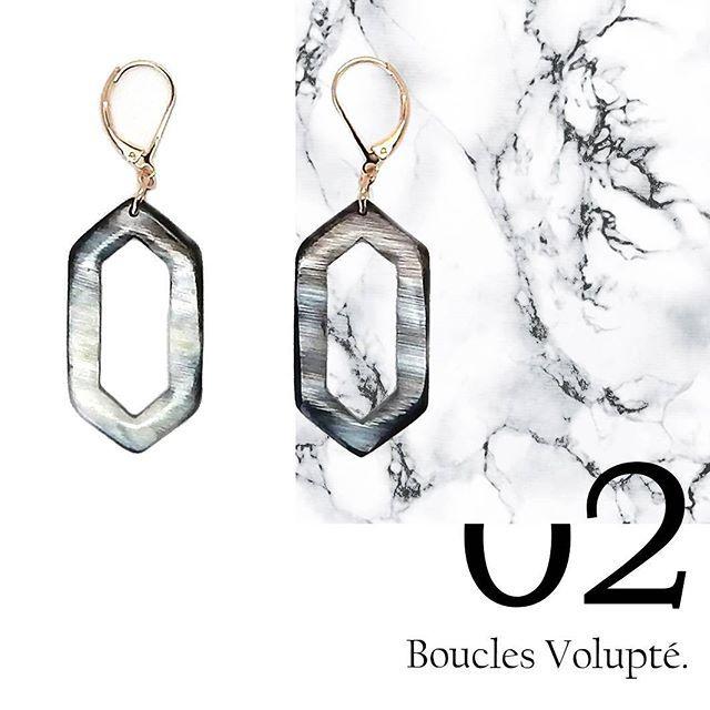 [ ZOOM SUR ] le thème Volupté, de la collection Possession.  Grâce à leurs formes graphiques, ces boucles d'oreillesdu thème Volupté donnent un effet très contemporain. Travaillées en corne sur monture crochet en métal doré à l'or rose, elles gardent leur authenticité et en deviennent inimitables.  #accessories #earrings #handmade #jewelrydesigner #instajewelry #handmadewithlove #jewelry #goodvibes #handcraftedjewelry #handcrafted #madeinfrance #rosegold #horn