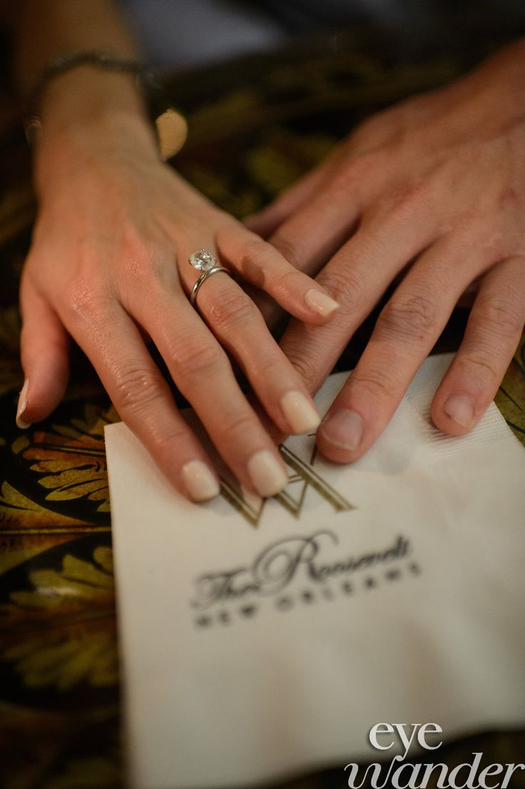 New Orleans Engagement Photography, The Rosevelt Hotel New Orleans, Engagement  Ring