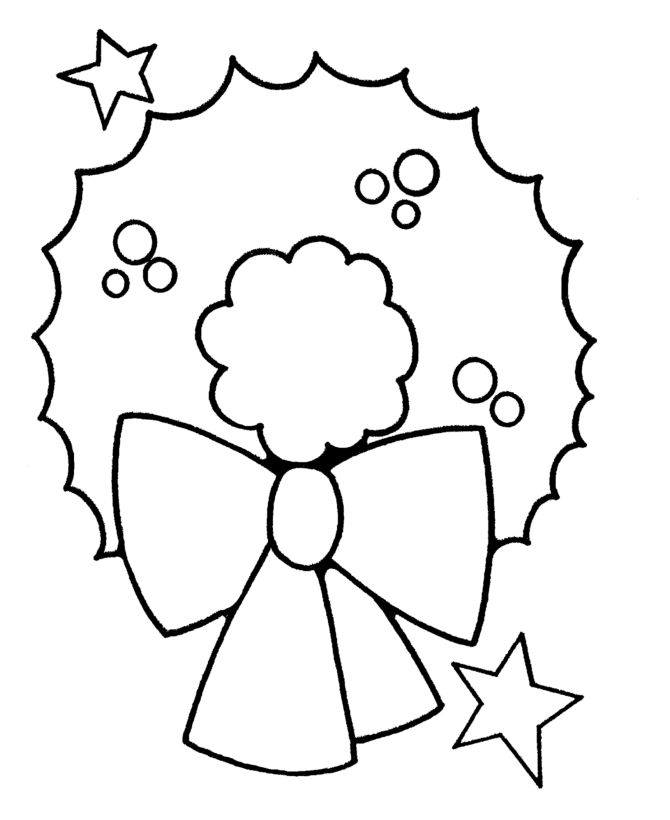 Pre K Christmas Coloring Pages Christmas Wreath