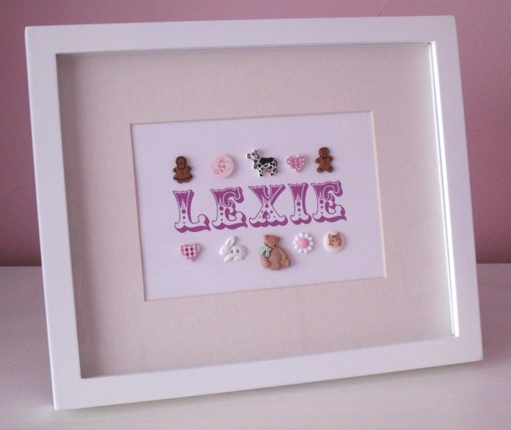 13 best personalisedhandmade gifts for babies images on pinterest a gorgeous personalised button frame to adorn the walls or shelf of any baby nursery or personalised baby giftshandmade negle Gallery