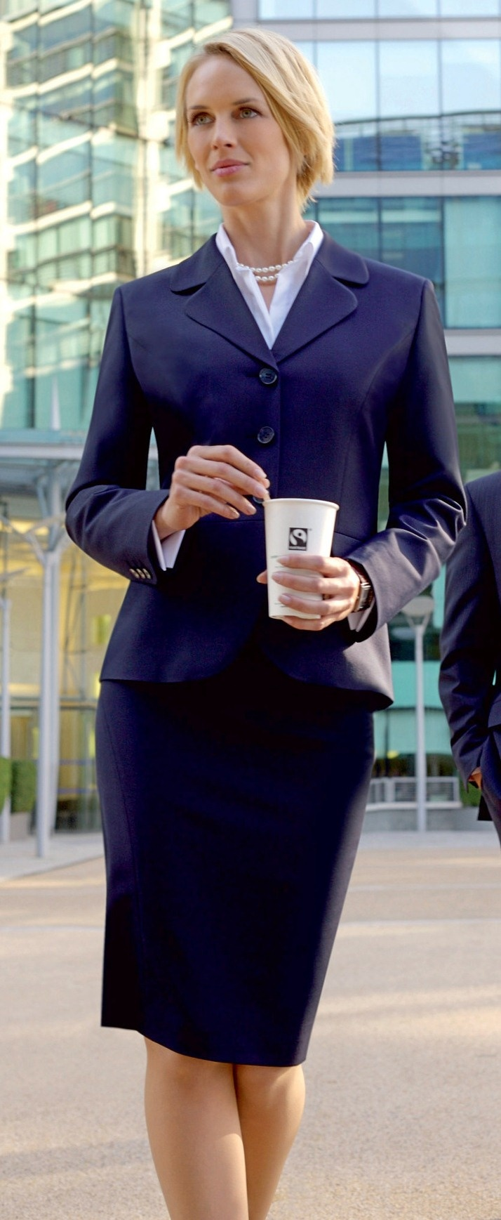 Very Nice Pencil Skirt Suit In Navy In 2019 Suit Fashion