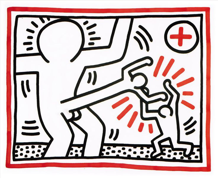 """Cockfight"" by Keith Haring! https://artsation.com/en/shop/frieze-art-fair-special"