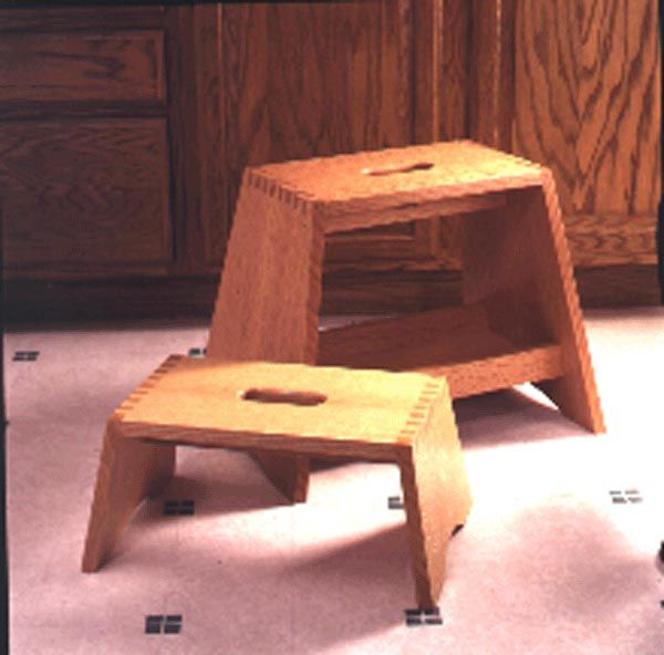 Wooden kitchen step stool plans woodworking projects
