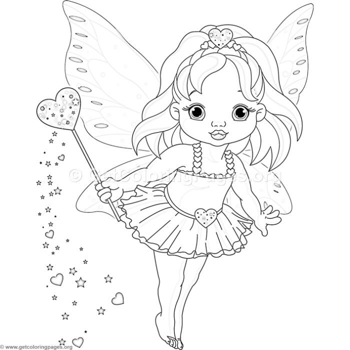 Download For Free Cute Love Fairy Coloring Pages Coloring