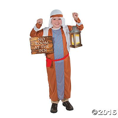 Child's Innkeeper Costume & Prop Set