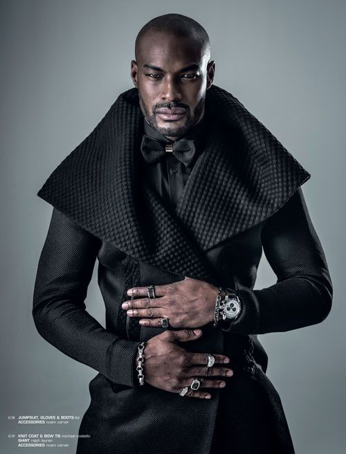 Tyson Beckford Embraces Black Fashions for And Men Cover Shoot
