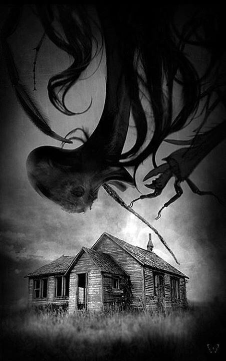 The Darkness Consuming The House In Middle Of Nowhere. Demonic black mist floating Bryce Edsall,