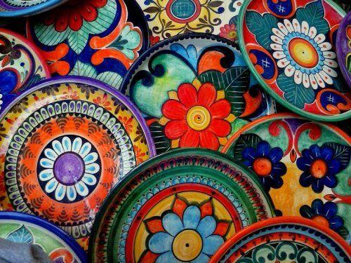 Vajilla estilo mexicana santamariazulejos for Azulejos artesanales