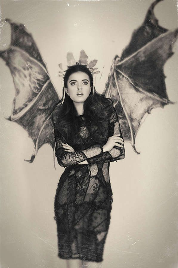 Vintage Gothic Portrayals - The Grey Fairytale Dark Beauty Magazine Editorial Sets a Dramatic Mood (GALLERY)