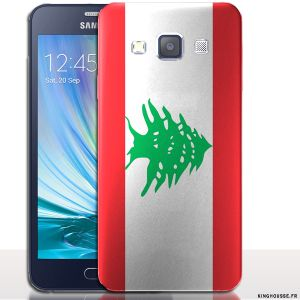 Coque Samsung Galaxy A5 Liban - Coque antichocs rigide. #Drapeau #Liban #A5 #Lebanon #Coque #SamsungGalaxy