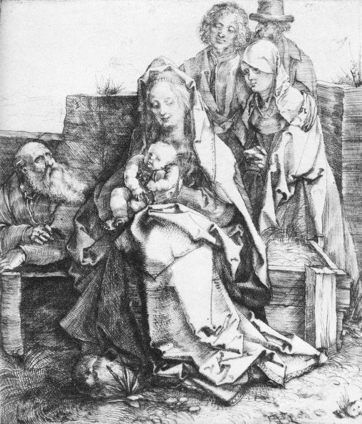 Η Αγία Οικογένεια  με τον Άγιο Ιωάννη την Μαγδαληνή και τον Νικόδημο (1512) - Βελονογραφία