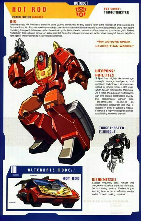 Transformers: Autobot - Targetmaster - Hot Rod w/ Firebolt