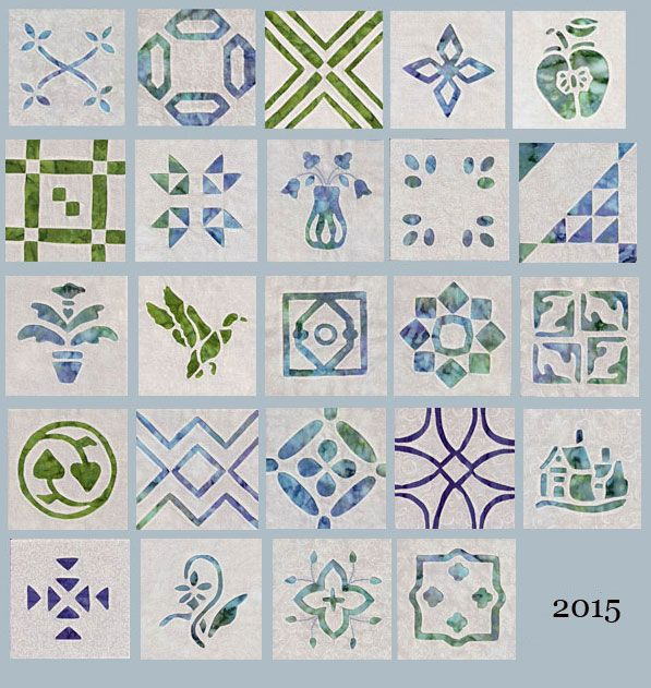 All 24 blocks I completed in 2015. Doreen Johnson...Aunt Reen's Place