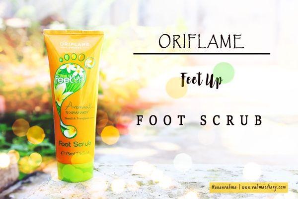 Rahma E-diary: My Experience with Oriflame Feet Up Foot Scrub #oriflame #skincare