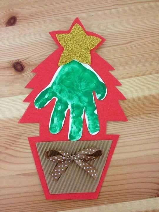 Lavoretti Di Natale Materna.Lavoretti Natale Per La Scuola Dell Infanzia Albero Di Natale Fatto Dai Bambini Natale Artigianato Artigianato Festivita Kids Crafts