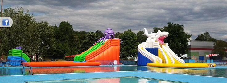 AQUALAND kúpanie, zábava a oddych,  aquazorbing, wakeboarding, in line okruh na korčuľovanie, detský zábavný park, plážový volejbal, futbal, stolný tenis, minigolf, bedminton, bowling, vodné bicykle, termálne bazény s tobogánmi a šmýkľavkou Zľava:10% celodenný vstup