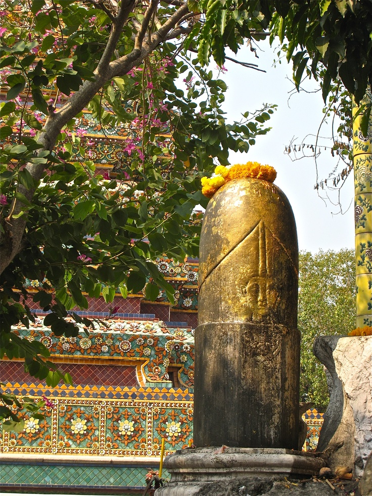 The primal energy of the creator represented by a Shiva lingam. Thailand 2009.