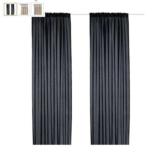 Black curtains - IKEA $9.99