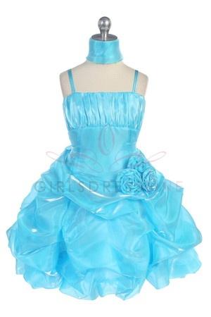 Short Shiny Lovely Bubble Flower Girl Dress Flower Girl