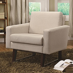 $251.09 Deliza Modern Accent Chair from Overstock #livingroomBook Club, Coasters 900176, Linentextur Accent, 900176 Linentextur, Living Room, Armchairs, Home Kitchens, Accent Chairs, Fine Furniture