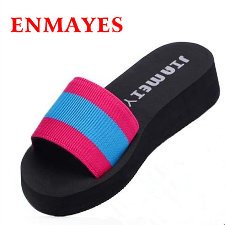 $28.50 (Buy here: https://alitems.com/g/1e8d114494ebda23ff8b16525dc3e8/?i=5&ulp=https%3A%2F%2Fwww.aliexpress.com%2Fitem%2FENMAYES-New-Thick-Bottom-Platform-Flip-Flops-Canvas-Wedge-Heel-Shoes-Patchwork-Woman-Summer-Sandals-Shallow%2F32648358498.html ) ENMAYES New Thick Bottom Platform Flip Flops Canvas Wedge Heel Shoes Patchwork Woman Summer Sandals Shallow Sandy beach Sandals for just $28.50