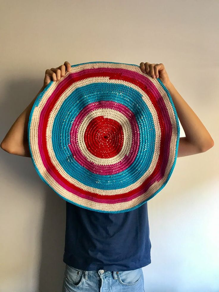 Crocheted cotton rug