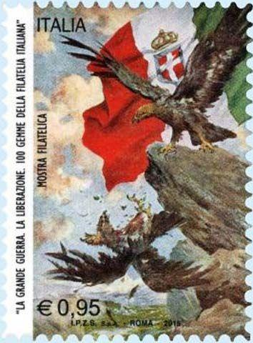 "2015 - Mostra filatelica ""La grande guerra"" - Cartolina di propaganda ""L'epilogo"""