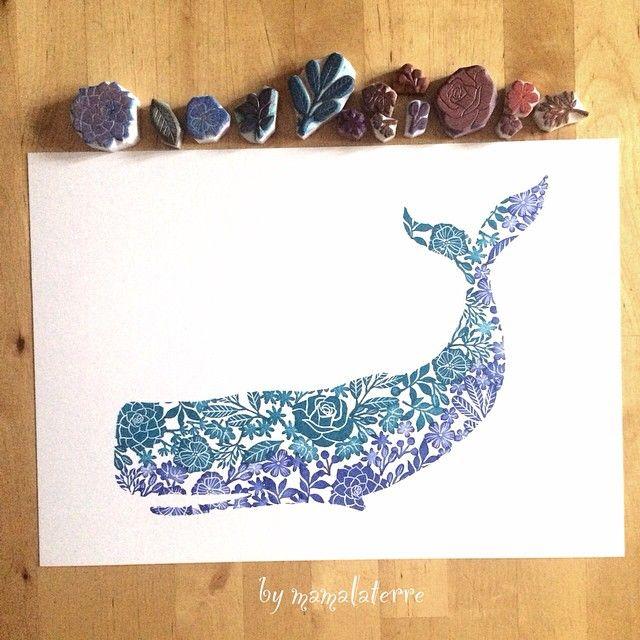いいね!132件、コメント4件 ― Bymamalaterreさん(@bymamalaterre)のInstagramアカウント: 「No 4 whale #hanco #hanko #hkshop #handmade #handicraft #hkhandmade #handcravedstamp #handprinted…」